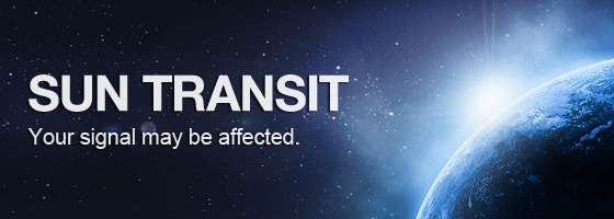 Sun Transit. Your signal might be affected.