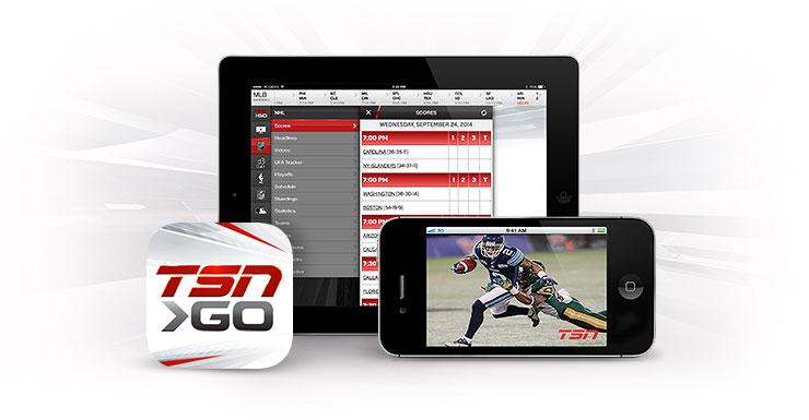 Shaw Go TSN GO app