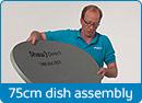 Install 75 cm Satellite Dish