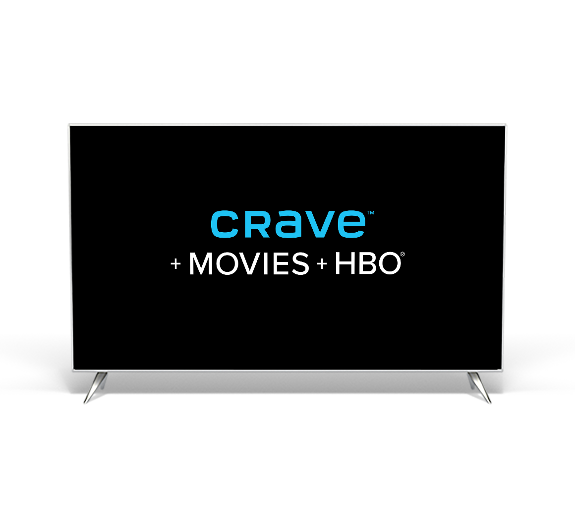A TV featuring the Crave logo