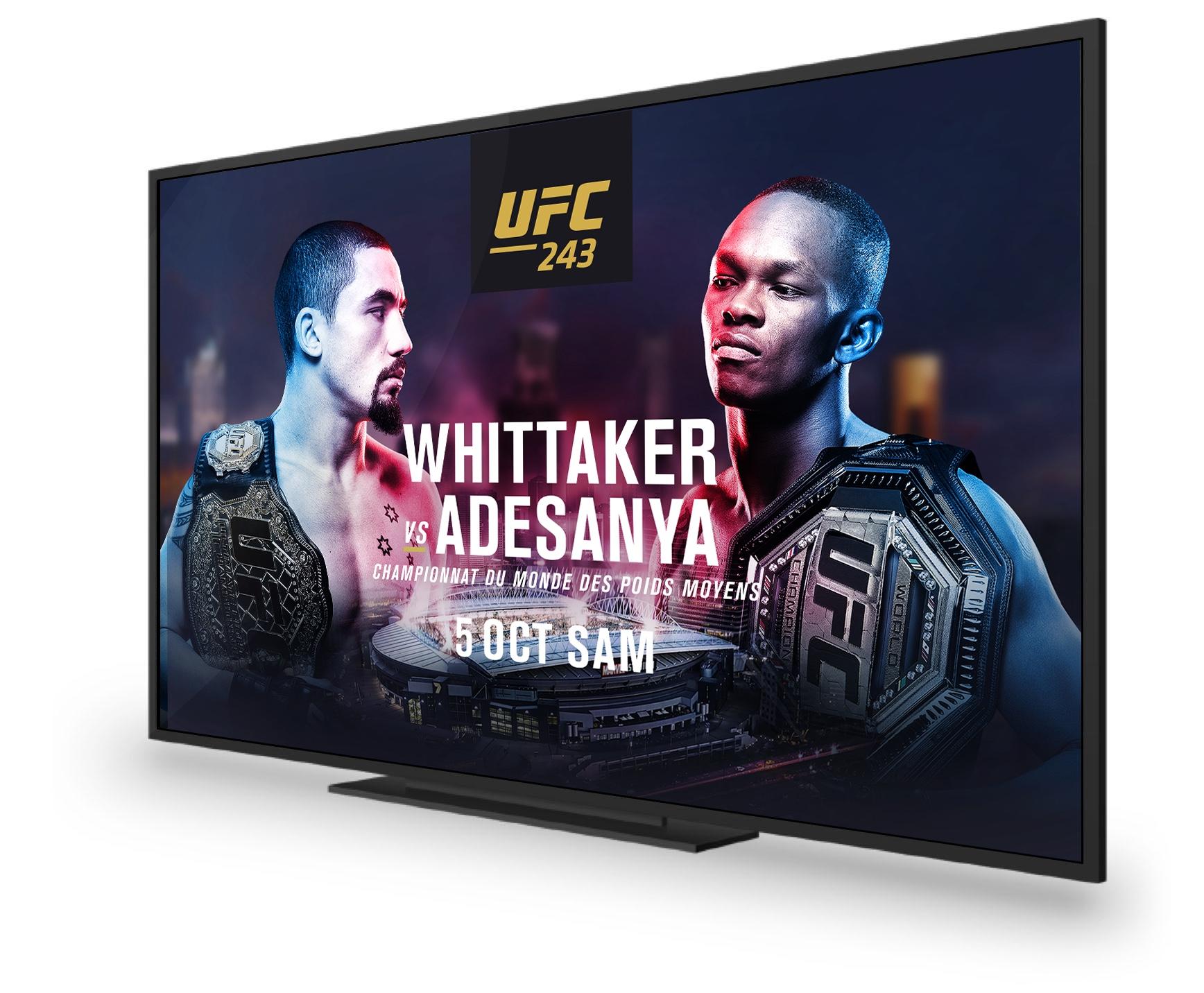 UFC 243: Whittaker VS Adesanya. Saturday, Oct 5th