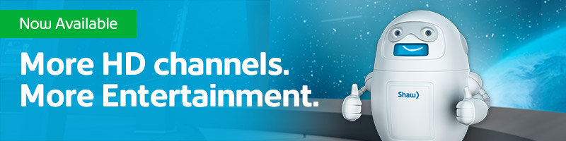 Shaw Direct Channel Launch Banner